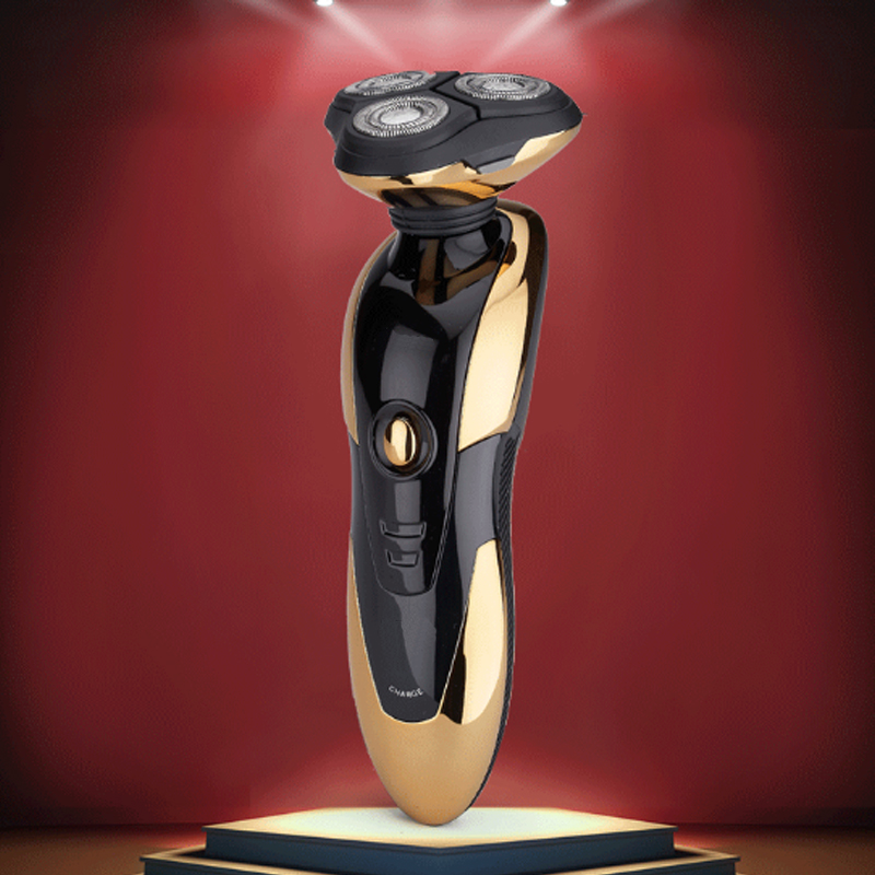 Rechargeable razor soil ho gold font b electric b font tick knife men washed razor