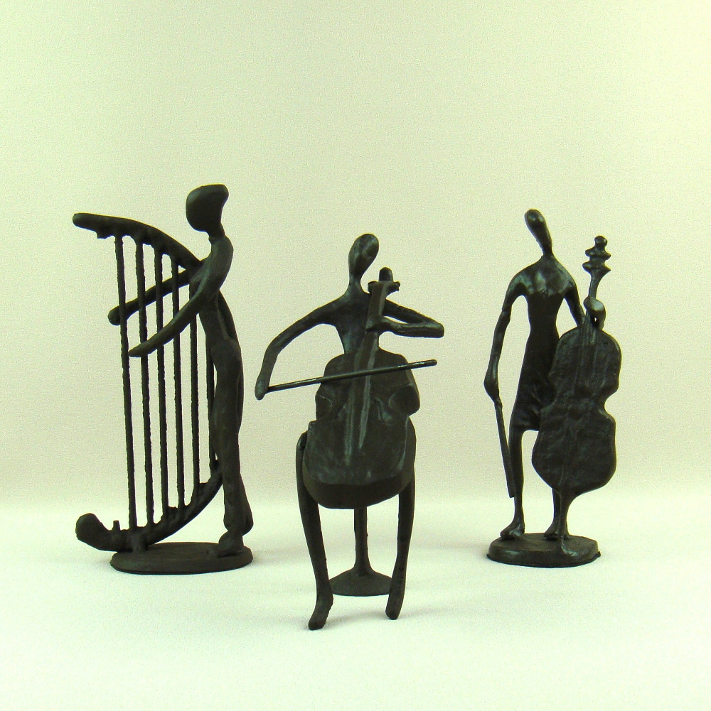 Classic Iron art Music Band Figurines Abstractive Metal Orchestra Miniatures Model Handwork Decoration Craftworks Gift Ornament