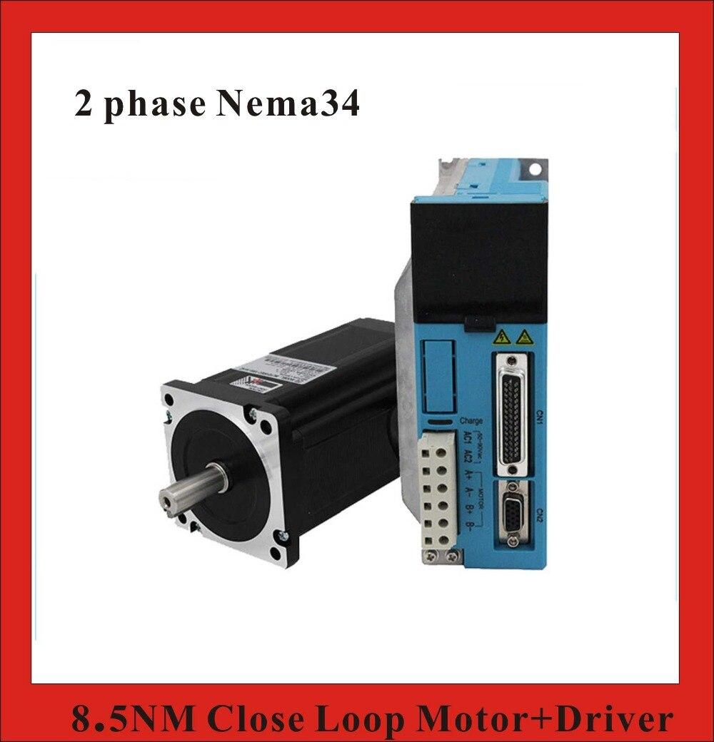 все цены на  2 phase 8.5N.m Closed Loop Stepper Servo Motor Driver Kit 86J18118EC-1000+2HSS858H CNC Machine Motor Driver  онлайн