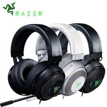 Razer Kraken 7.1 Chroma V2 Virtual Surround Sound Headset com Microfone Digital Da Orelha Oval Copos Chroma Iluminação Gaming Fone De Ouvido