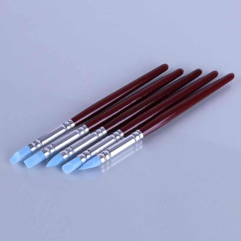 5 قطع لينة سيليكون الفخار الطين أداة النحت فيمو بوليمر النمذجة المشكل أدوات ل هواية كرافت