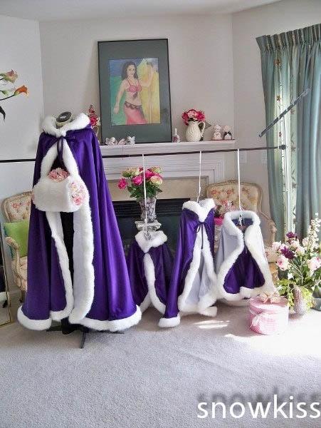 ФОТО Floor Length Hooded 2016 Girls Cape Wedding Cloaks Faux Fur Jacket For Winter Kid Flower Girl Shrug Outerwear Coats for haloween