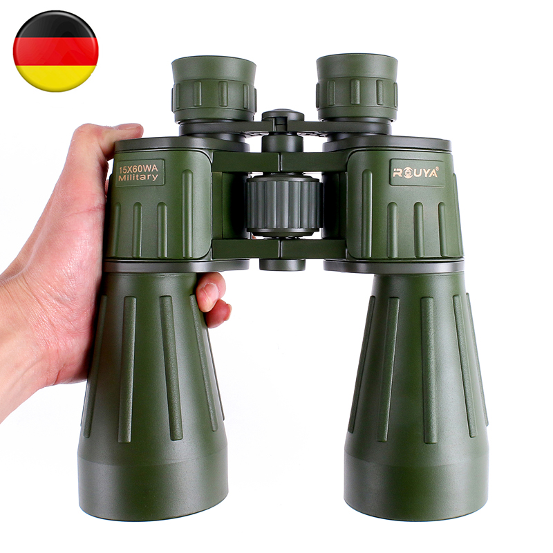 Germany Military Binoculars 15X60 Powerful Telescope Hd Professional Quality Army Green binocular for Hunting Lll Night Vision binoculars 10x50 professional telescope tactical powerful binocular germany military lll night vision hd bak4 scope for hunting