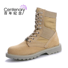Spring and autumn 2018 womens army boots high-heeled Martins women shoes