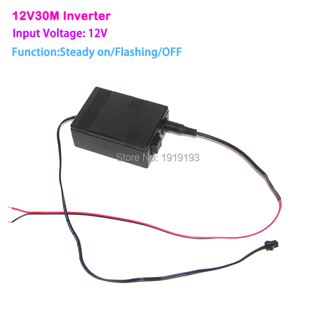 Newest 12V EL wire inverter/driver for loading 30meters EL wire or ...