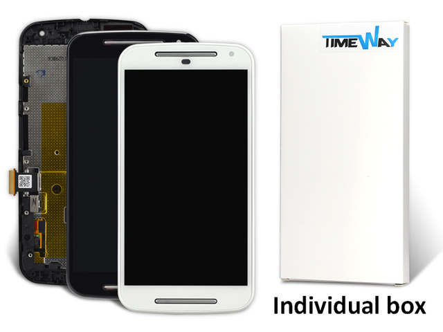 10 pcs For moto g2 lcd with frame Display+Touch Screen Digitizer ...