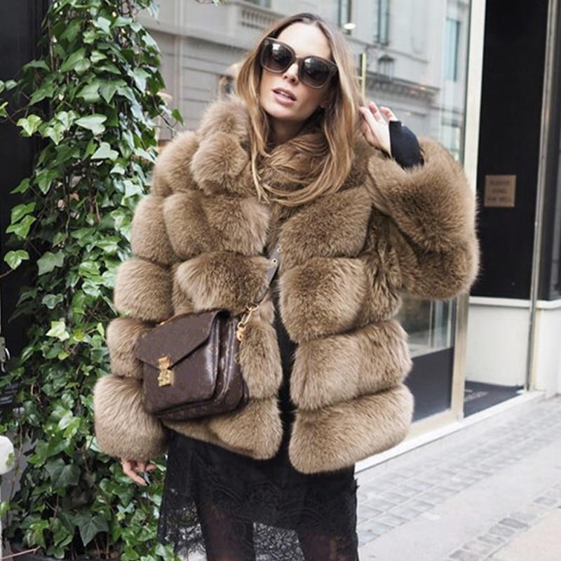 Татьяна furclub натуральным мехом пальто с натуральным лисьим Меховая куртка модный топ черные туфли высокого качества меха для девочек зимне...