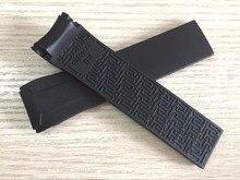 22 мм T024417A ремешок для наручных часов Черная Силиконовая резина ремень ремешок для наручных часов для T024 T024417