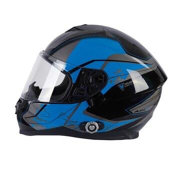 шлем велосипеда Bluetooth | Мотоциклетный Bluetooth шлем с двойным козырьком, с полным лицом, встроенный домофон + FM аудио, для мотокросса, уличного велосипеда, гоночной дор...