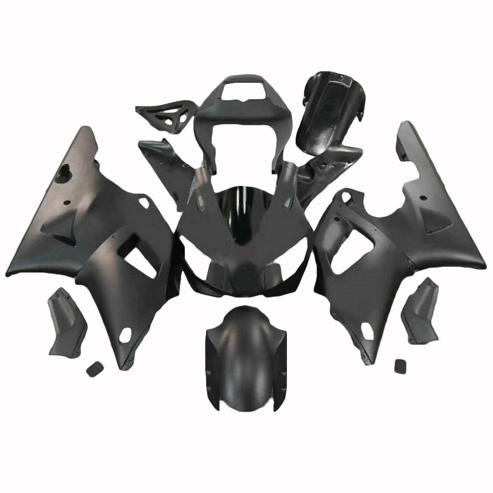 ᐂKit de carenado de motocicleta para 98 99 negro brillante Yamaha ...
