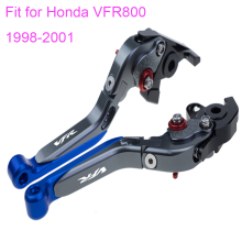KODASKIN Left and Right Folding Extendable Brake Clutch Levers for Honda VFR800 1998-2001