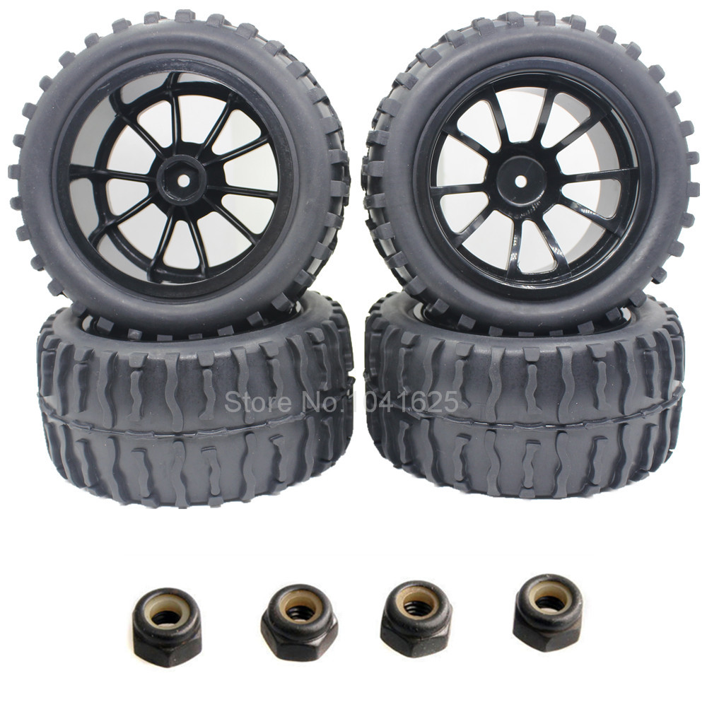 4pcs 2 2 inches rc 1 10 wheels tires for off road monster truck 4wd fit hsp redcat hpi racing. Black Bedroom Furniture Sets. Home Design Ideas