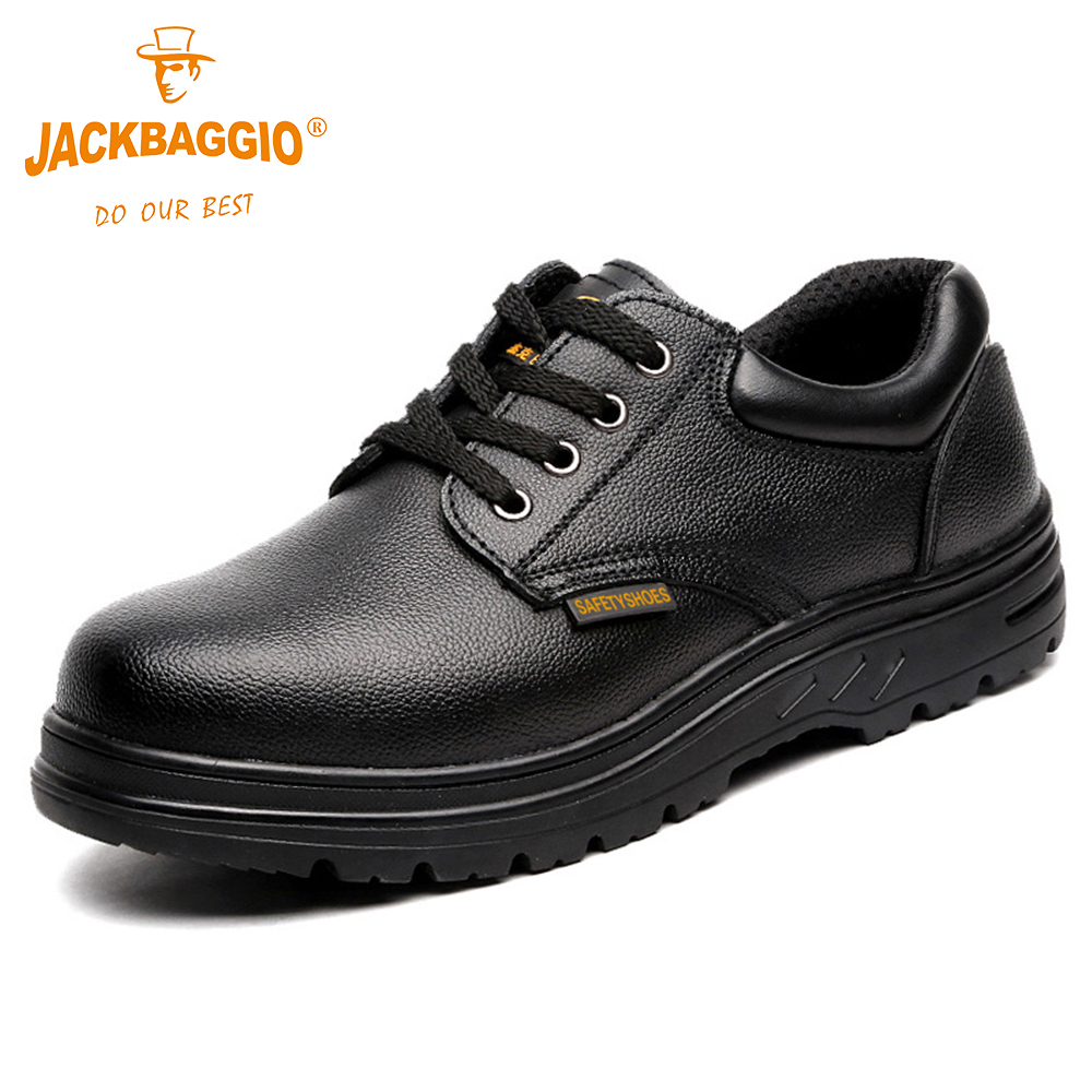 JACKBAGGIO 2018 New Military work Safety shoes Anti slip Breathable Reflective Business Shoes