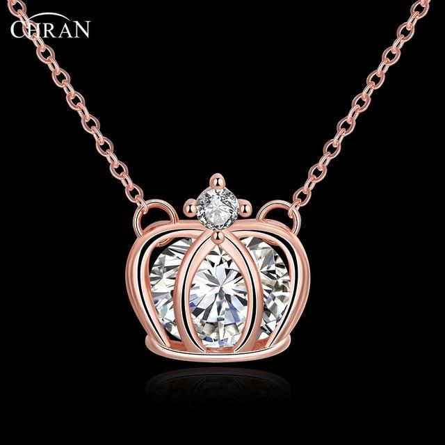 CHRAN Elegant Cubic ZIrconia Statement Pendant Necklace Jewelry