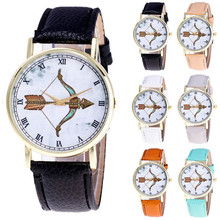 Vansvar Watch Pattern Color Bow and arrow pattern Male And Female Strap Wrist Watch Stylish Unique Design Simple Style Watch M24