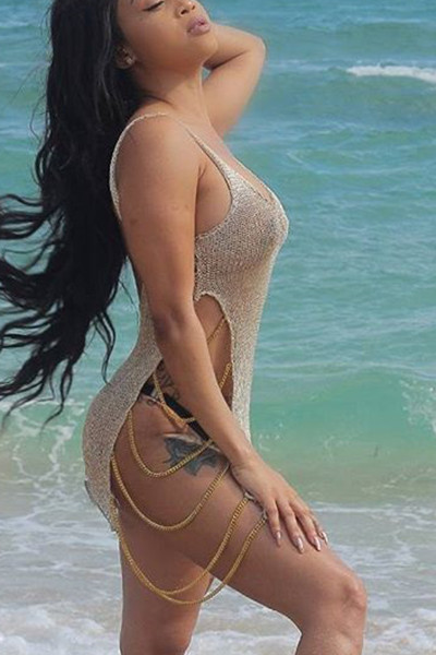 2740b26eda Womens Swimsuits Cover Up Sexy Crochet Lace Mesh Swimwear Summer Beach  Dress Chain Bikini Cover Up