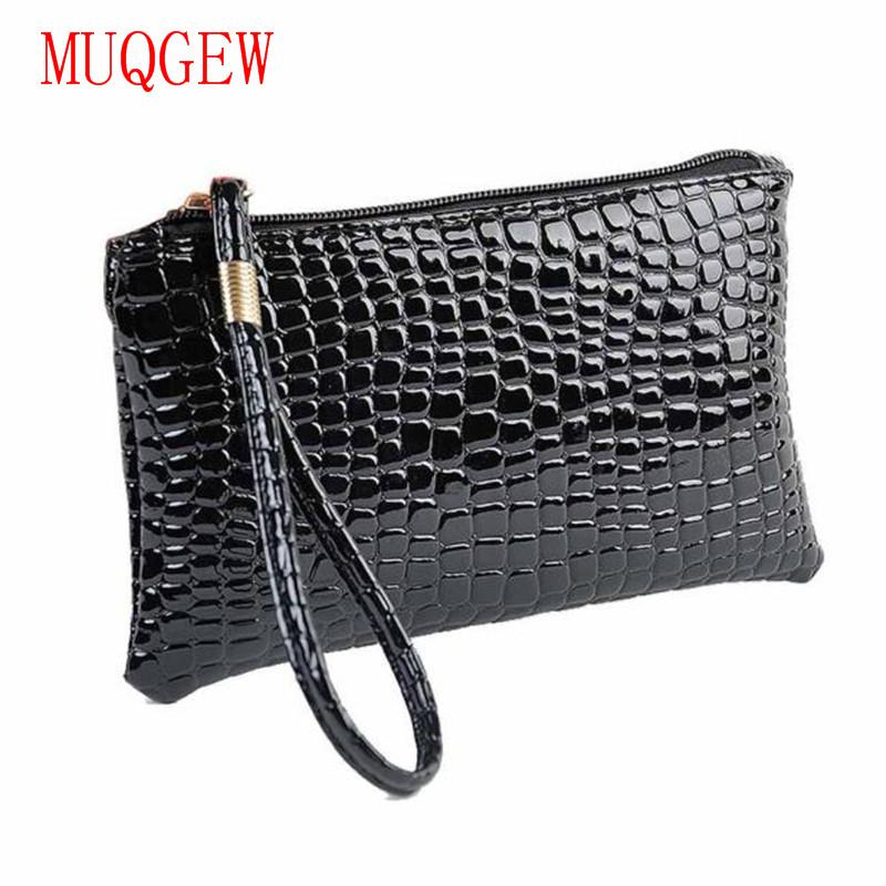 Long wallet passport holder Bag Women Crocodile PU Leather Clutch Coin Purse Fashion and leisure wallet for credit card holder