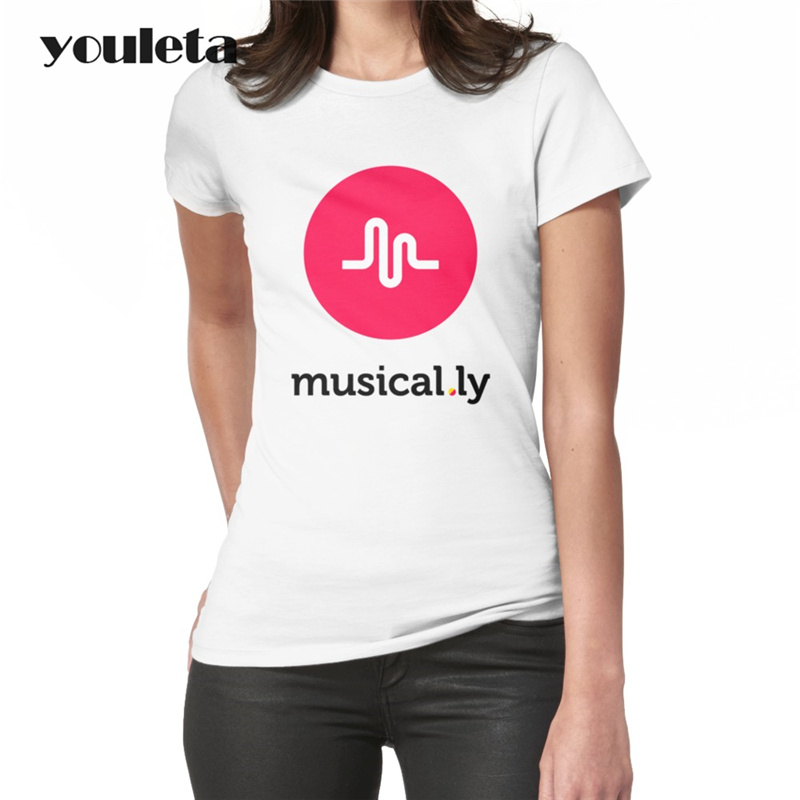 2018 Newest musical.ly T-Shirt Women Cotton t shirt Summer White O-neck short sleeve Casual tops tees female clothing