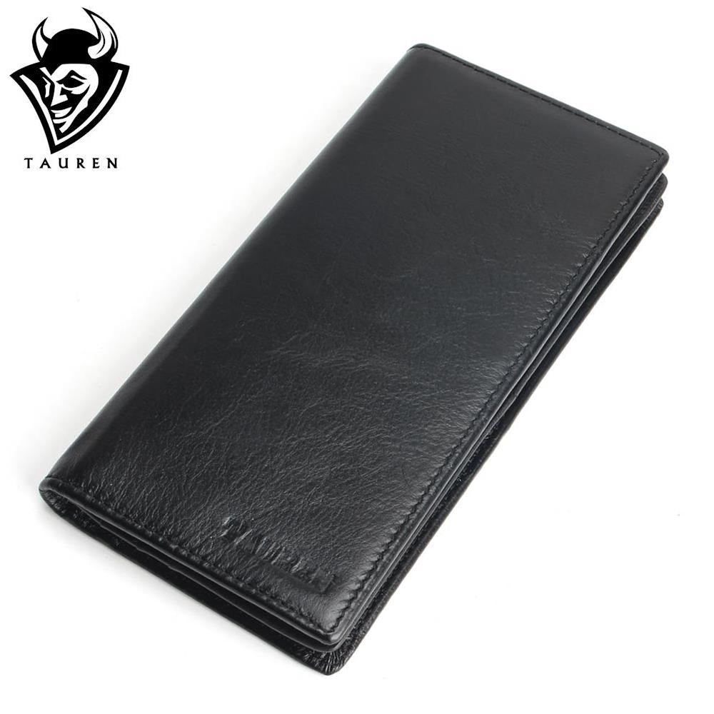 Genuine Leather Men S Wallet Long Design Multifunctional Men Purse Black Billfold Card Holders For Men