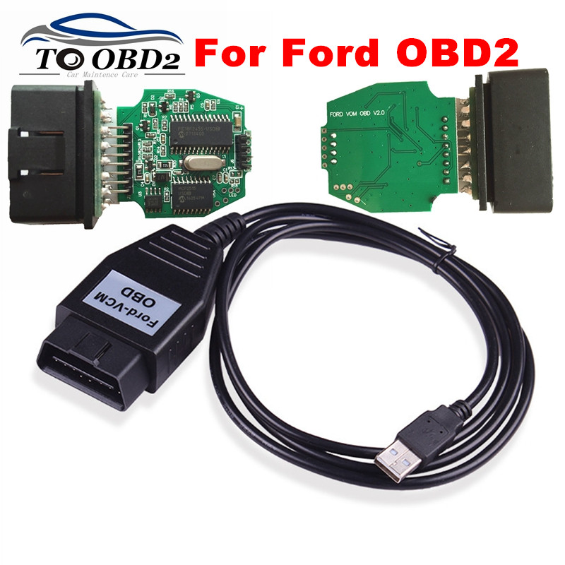 Prix pour Fonction Stabel Pour Ford VCM OBD Auto USB Outil De Diagnostic Pour Ford/Mazda MINI Version DE VCM2 IDS VCM OBD Lecteur de Code Pour Ford