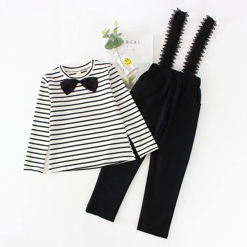 b5642c1a4 SOKOBX Girls Clothes Set Teenage Striped Shirt+ Jumpsuit 2 PCS Kids  Tracksuits Autumn Spring Kids Clothes For Girls 8 10 12 Year-in Clothing  Sets from ...