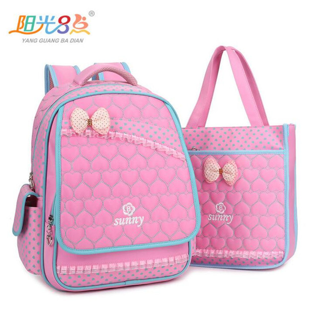 Hot Sale YGBADIAN Cute Girls Backpacks Fashion Children s Schoolbags 1-5  Grade Pupil Bookbag Waterproof Nylon School Bag M398 ffbd0f5eb89d3