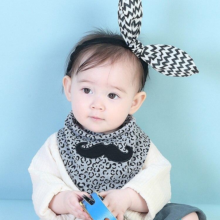 Baby Bibs Bandana 100% Cotton Double Layers Drool Bib Child Boys Girls Triangle Bibs Bandana Infant Towel Newborn Scarf