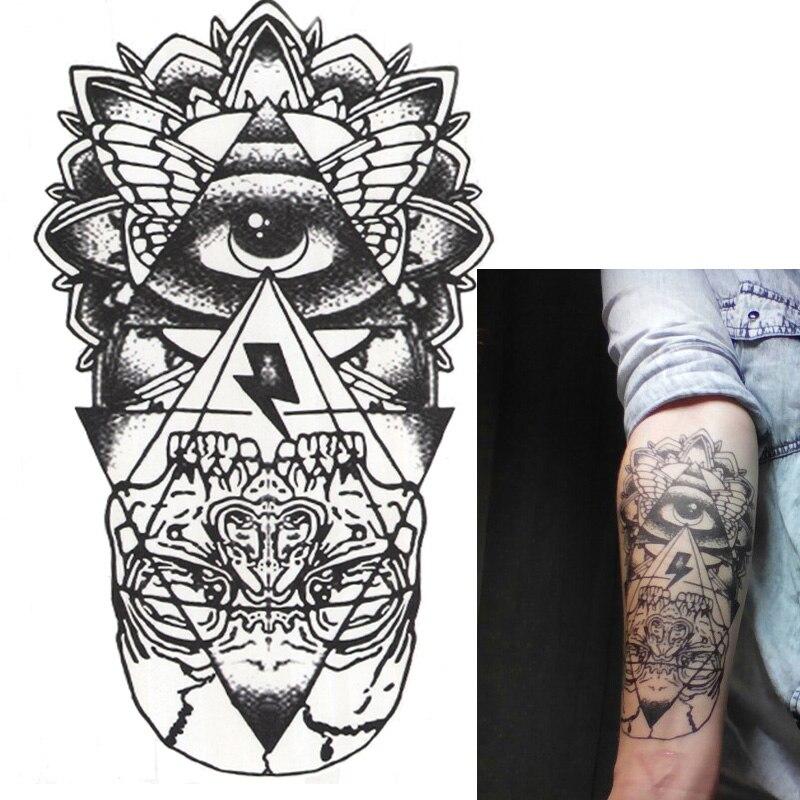 181 10 De Descuento5 Piezas Impermeables Tatuaje Temporal Grande Pegatinas Hombres Brazo Pierna Falso Transferencia Tatuaje Ojos Productos Sexy