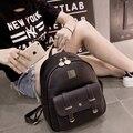 Mulheres da moda Mochilas mochila de viagem mulheres sacos de escola para adolescentes meninas Monstro mochila de couro Sacos de ombro Das Mulheres