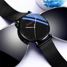 цены на Simple Watches Men Top Brand Luxury Ultra-thin Wrist Watch Men Casual Steel Mesh Clock Male erkek kol saati Relogio Masculino  в интернет-магазинах