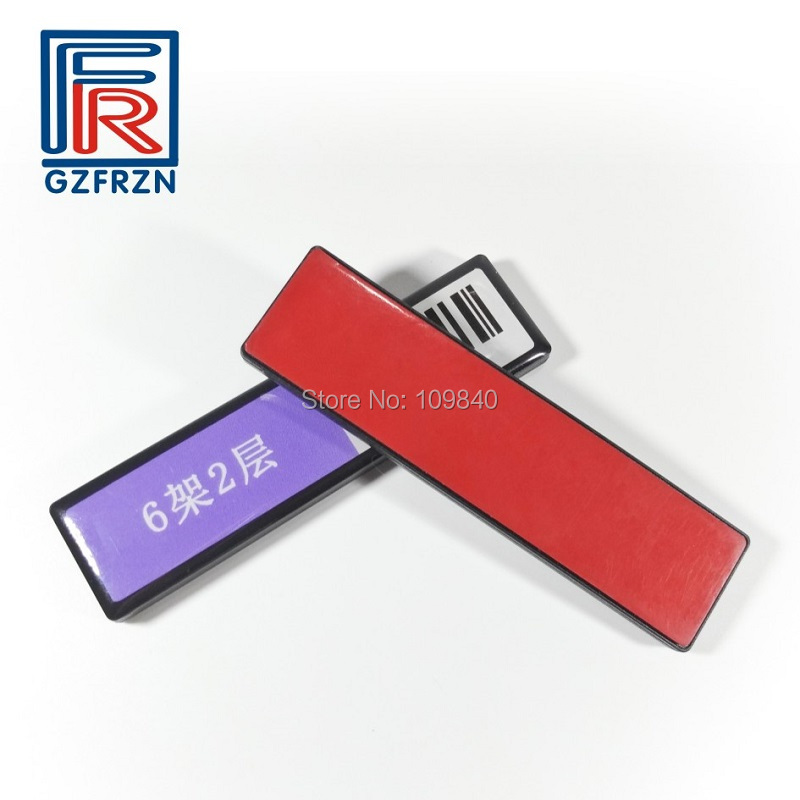 1000pcs Customized printing UHF RFID ABS anti metal Shelf tag 512bit for library File Assets Logistics management 2000pcs 75 25mm uhf rfid alien h3 paper sticker used for warehouse management and library management