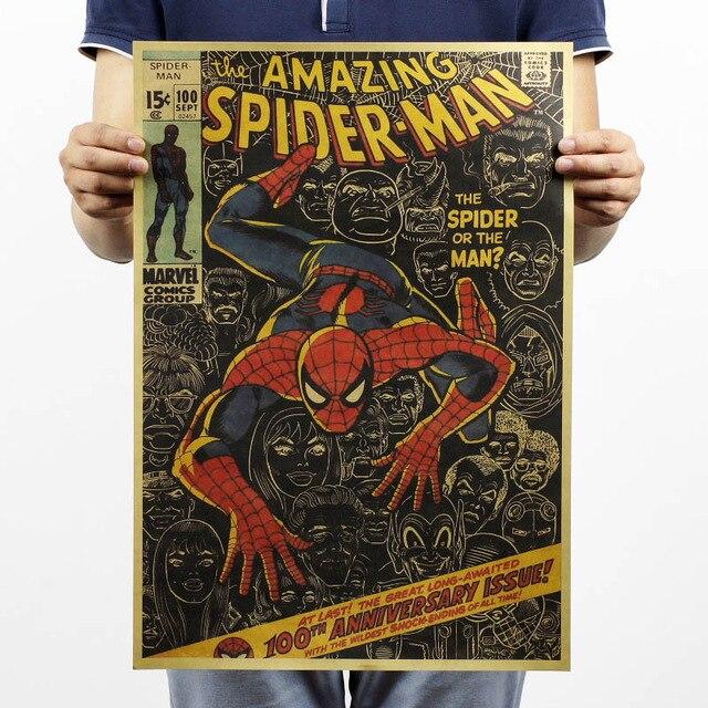 Marvel Poster Avengers 4 Endgame Iron Man Spiderman The Avengers Vintage Kraft Paper Home Decor Art Retro Prints