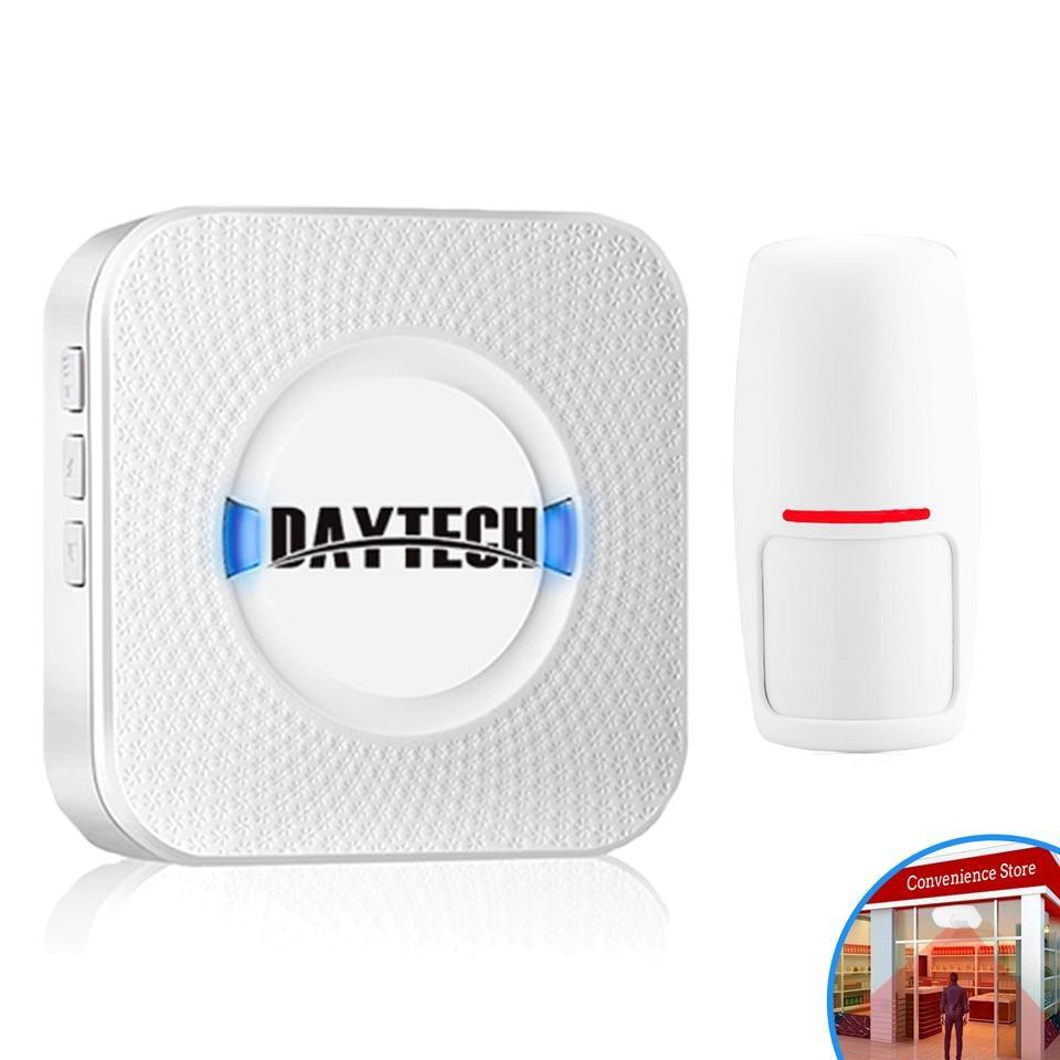 DAYTECH Detector Chime-Alarm Driveway-Alert Motion-Sensor Alert-System Wireless PIR Open-Chime