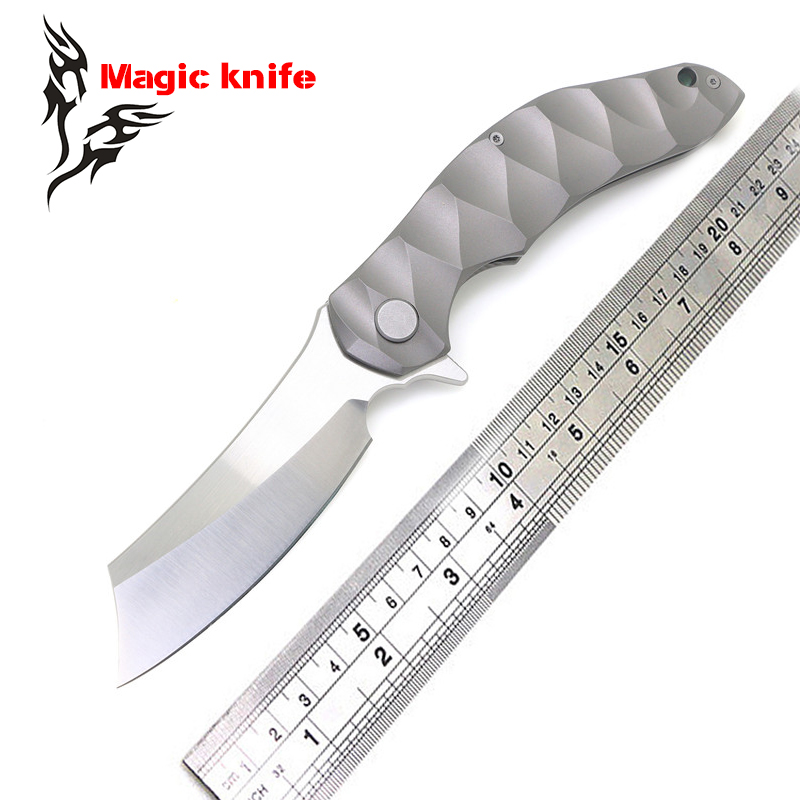 High quality bearing TC4 Titanium handle D2 blade knife hunting camping outdoor self-defense tactical army Survival knife пылесборник ozone air paper p309 5 makita до 36 л 5штук