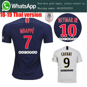 690ae6930 2019 PSG Ligue Home Away Soccer jersey camisetas Neimar JR MBAPPE t-shirt 18  19 football jersey size S-4XL Free Shipping