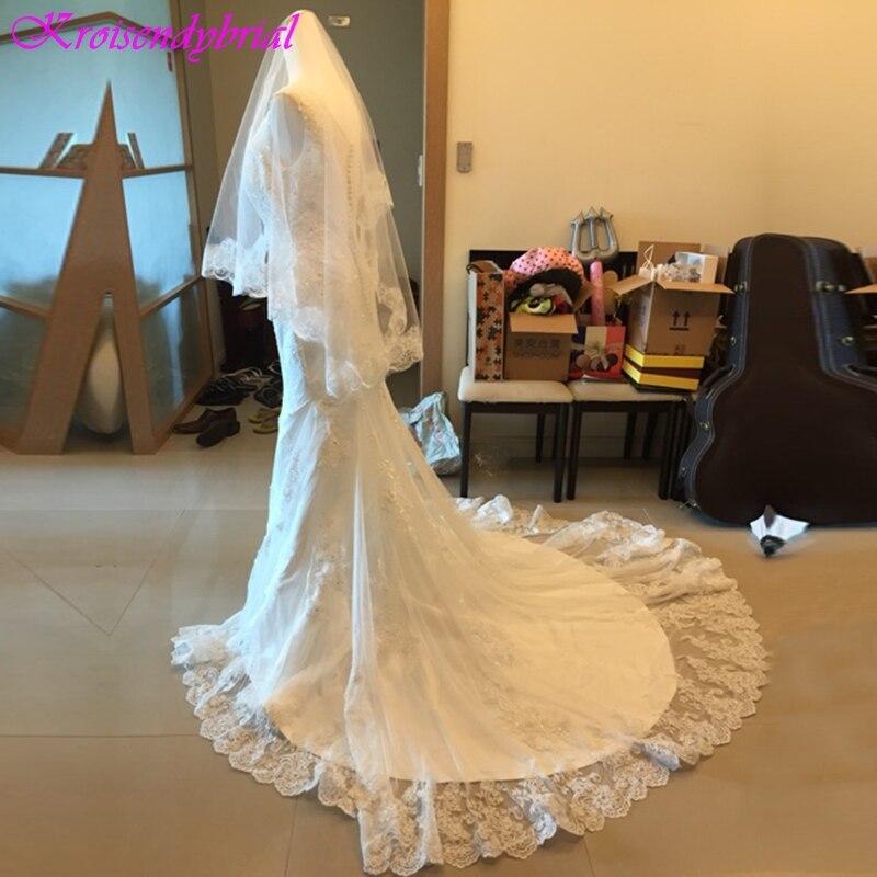 Sheath Wedding Dresses 2019: QFS039 Vestidos De Noiva Beautiful Sheath Mermaid Lace