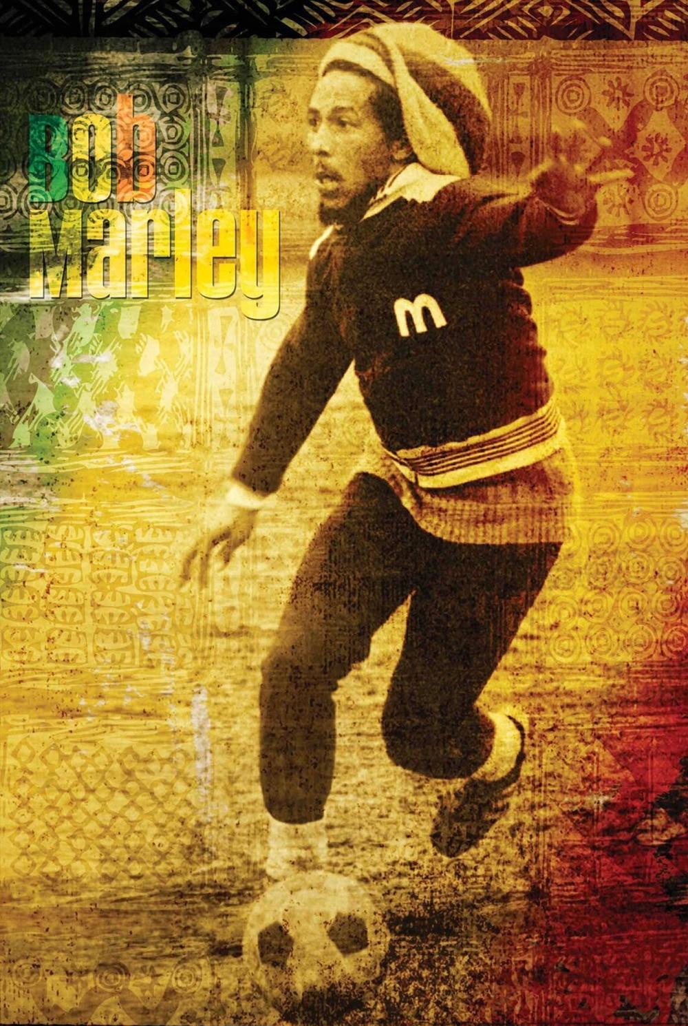Hot Bob Marley Play Football Stylish Classical Decor Fashionable
