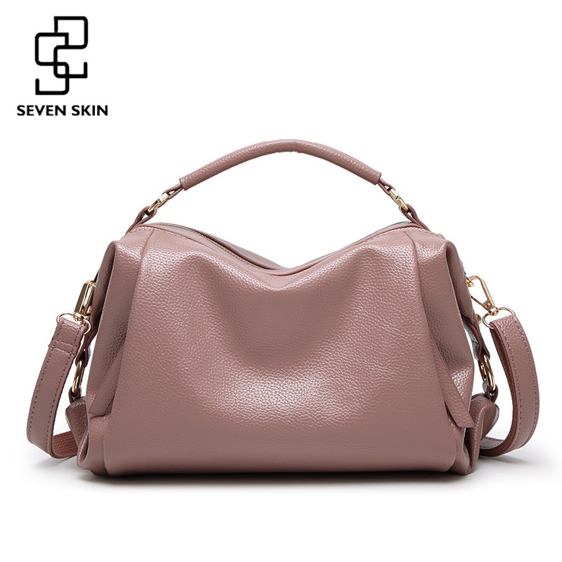 SEVEN SKIN Brand 2017 PU Leather Women Handbags High Quality Women's Shoulder Bag Female Casual Tote Bag for Ladies bolsos mujer micocah fashion women shoulder bag 2 colors quality brand handbags for female pu leather gh50007