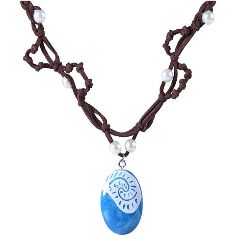 Best Sellers 1 Pcs Anime Movie Moana Princess Necklace Vaiana Pendant Action Figure Juguetes Kids Toys Gifts