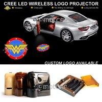 Car Door Welcome Light Wireless Battery Projector Laser GOBO Wonder Woman Logo Light Ghost Shadow Puddle