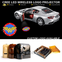 Car Door Welcome Light Wireless Battery Projector Laser GOBO Wonder Woman Logo Light Ghost Shadow Puddle