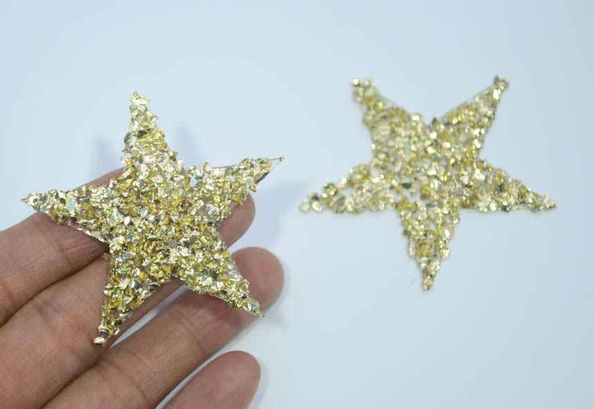 25pcs/lot Gold stone star Hotfix rhinestone motif iron on ...