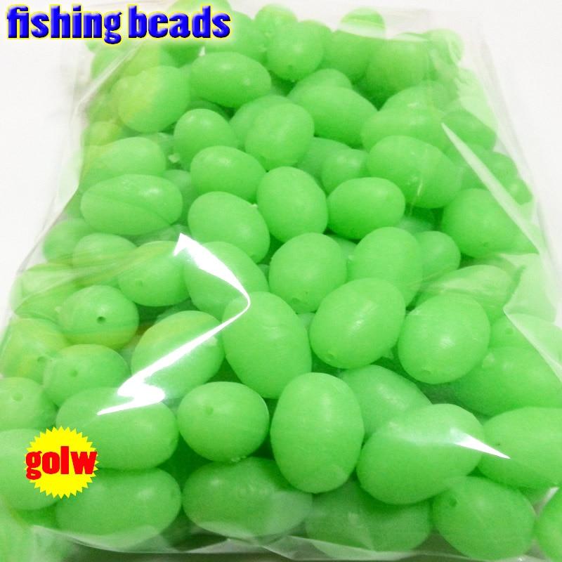Fihsing contas de pesca luminosas de plástico, brilha no escuro, 2*3*4 --12*16mm escolha mais tamanho