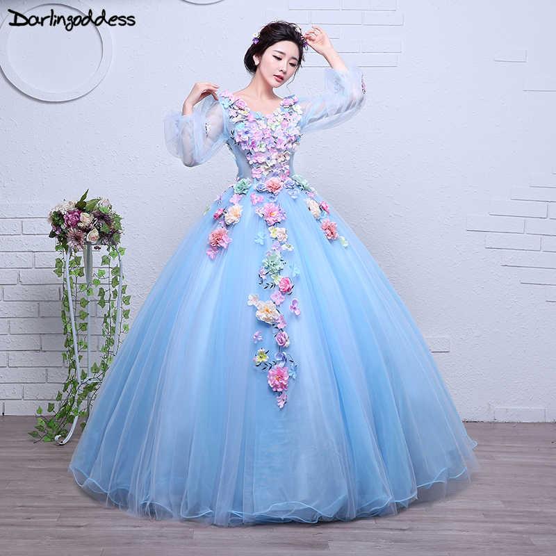 949fcbb292c Дешевые Бальные платья Robe De Soiree красивое кружево с цветами с  v-образным вырезом бальное
