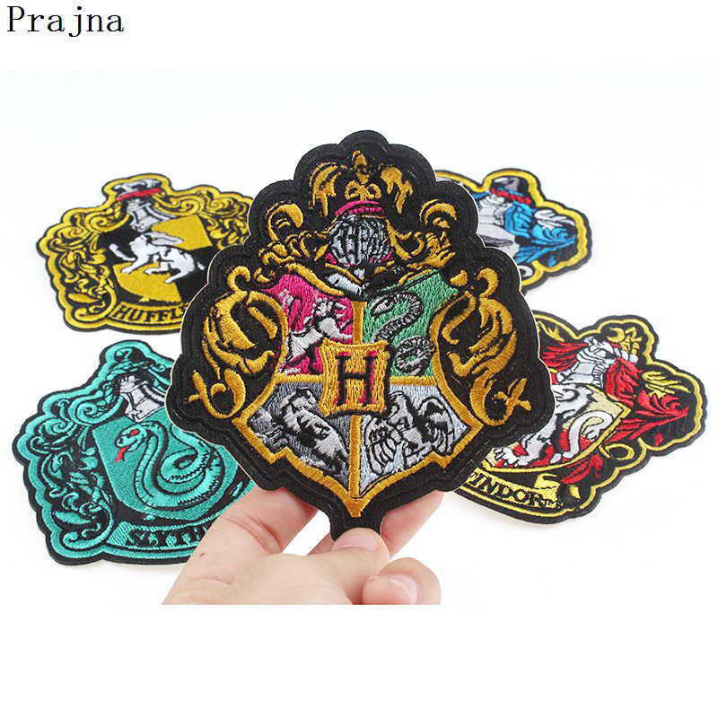 Prajna High Quality Harry Potter Badge Patches Iron On Appliques Handmade Sewing Fabric Patch For Clothing Decor New Style Hot