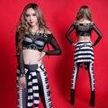 Mujer traje de la etapa ds traje atractivo hiphop jazz desgaste espectáculo de danza para bailarín del cantante star club nocturno espectáculo star
