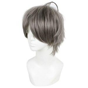 Image 4 - L email wig Haikyuu Hinata Shoyo and Sugawara Koushi Cosplay Wigs 25cm Heat Resistant Short Synthetic Hair Perucas Cosplay Wig