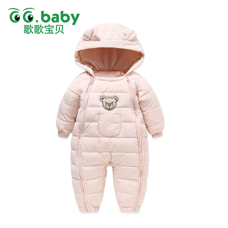 New Thick Winter Cotton Baby Girl Clothes Romper Zipper Hooded Newborn Baby Boy Clothes Baby Bear Rompers Warm Overalls Snowsuit newborn baby romper winter clothes hooded cotton outdoor roupas para recem nascido long sleeve baby boy winter thick 607022
