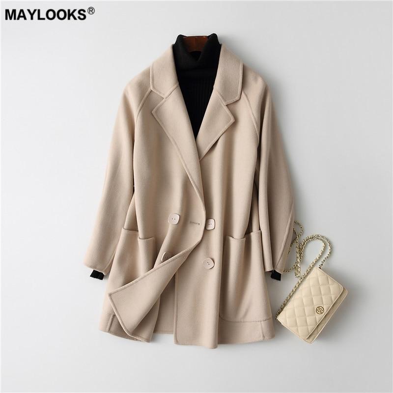 rose Nouvelle 38068 2018 bleu Manteau Mode Fourrure De Beige Maylooks znZq5wHxq