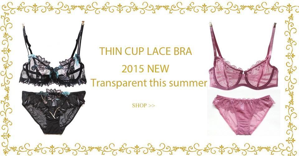 2a2377be95 Transparent bra set. Black purple red wireless lace underwear sets thin cup sexy  women brassier ...